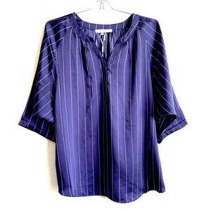 Sioni  Blouse Stripped Bat Sleeve Top XL